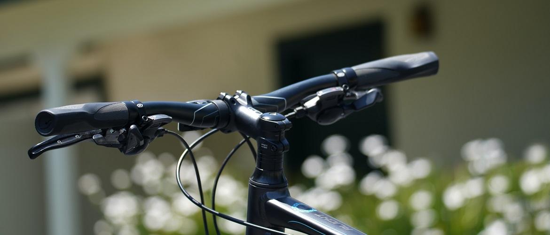 Recht fietsstuur, de meest voorkomende variant
