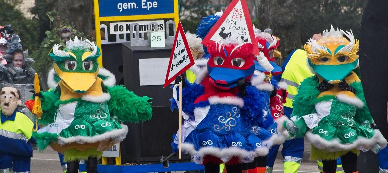 Optocht voor carnaval in Nederland