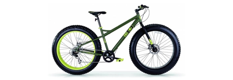 Groene fatbike mountainbike